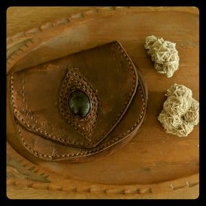 Handbags - Vintage handmade leather hip pouch from Guatemala